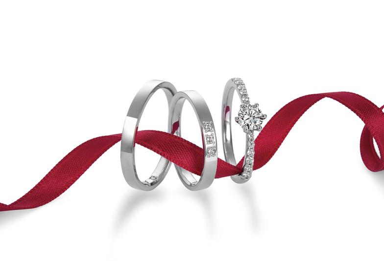 【浜松市】「最高のダイヤモンド」を使用したモニッケンダムの婚約指輪人気デザイン