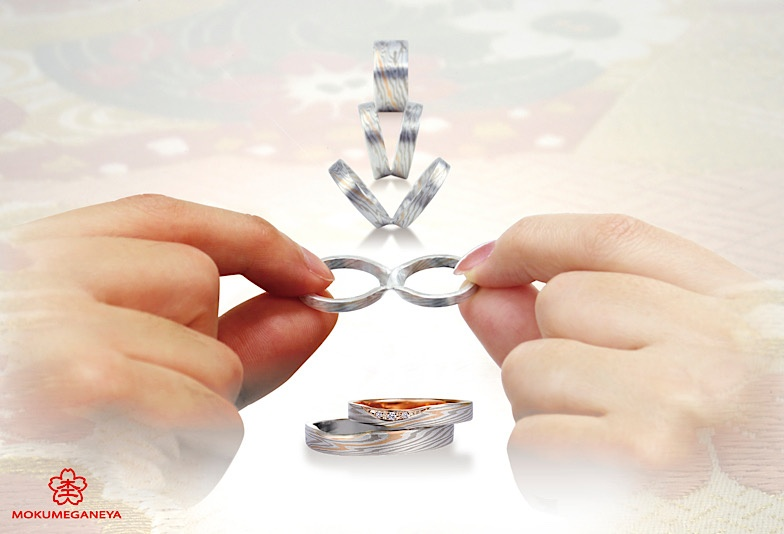 福井市結婚指輪,福井市杢目金屋,福井市マリッジリング,福井市結婚指輪オシャレ,