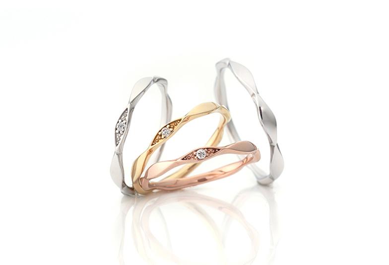 お好みの素材を選んで個性を出せる結婚指輪