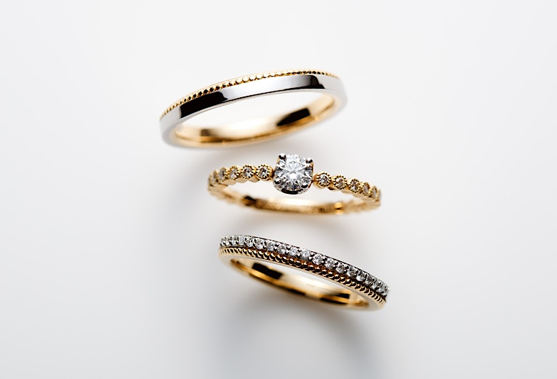 【富山市】カジュアルな結婚指輪!オシャレで人気なコンビリングをご紹介!