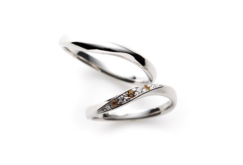 【新潟市】誕生石の結婚指輪【11月シトリンのマリッジリング】