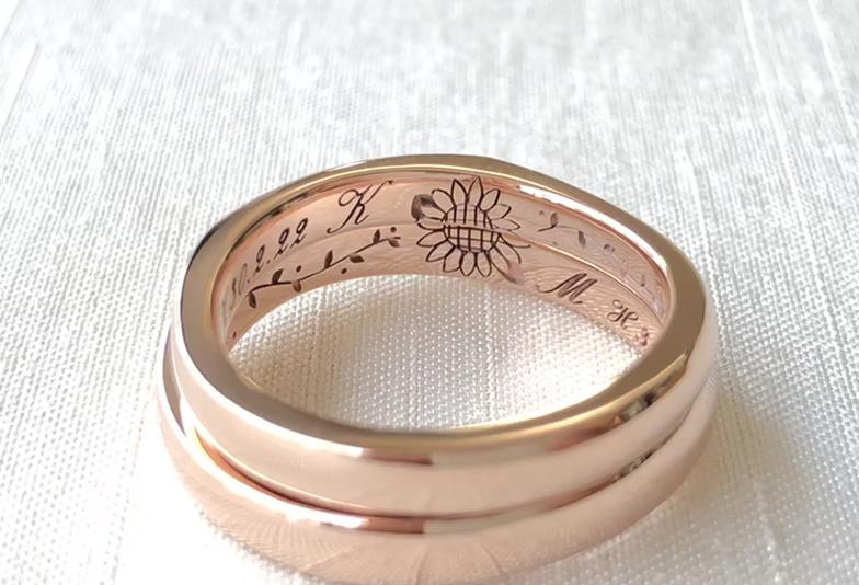 【静岡市】シンプルが良いけど特別な結婚指輪が欲しい。私たちは内側刻印にこだわりました