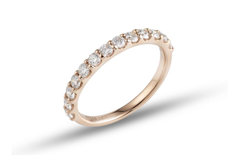 ダイヤモンドの輝きを楽しめる爪留め
