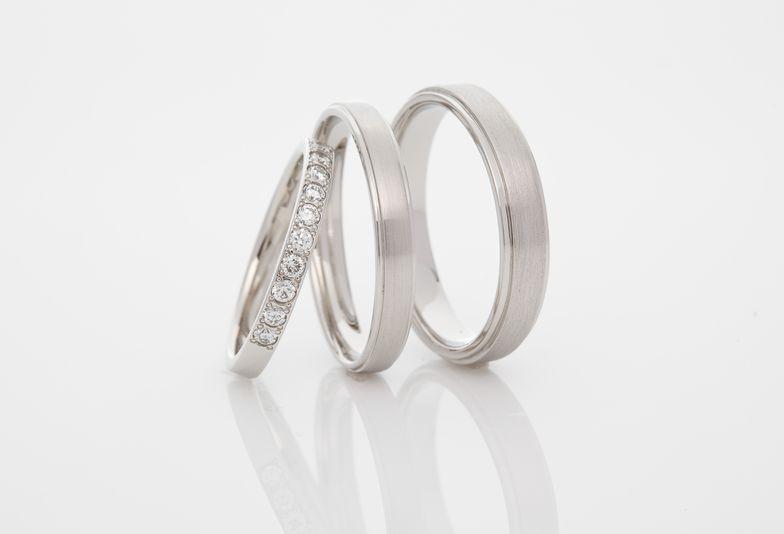 岩出市結婚指輪ハーフエタニティ