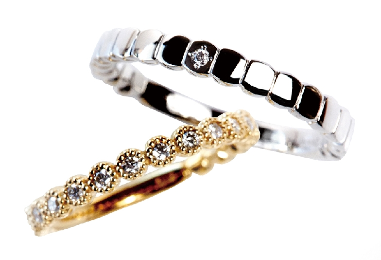 RosettE/STARRY SKY marriage ring picture