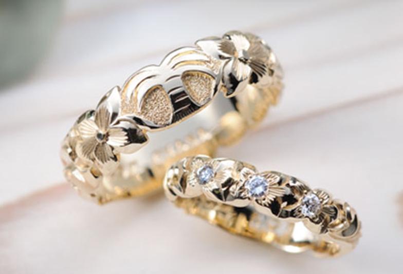 ハワイアンジュエリー K14YG結婚指輪