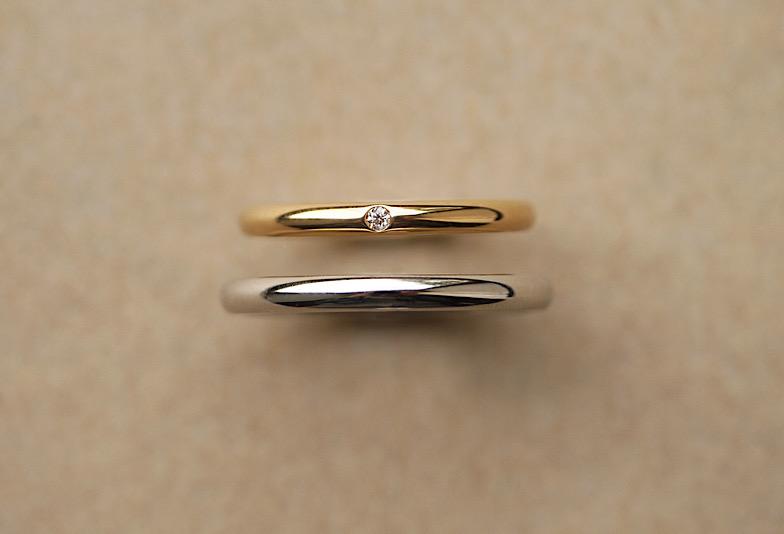 結婚指輪プラチナ、K18