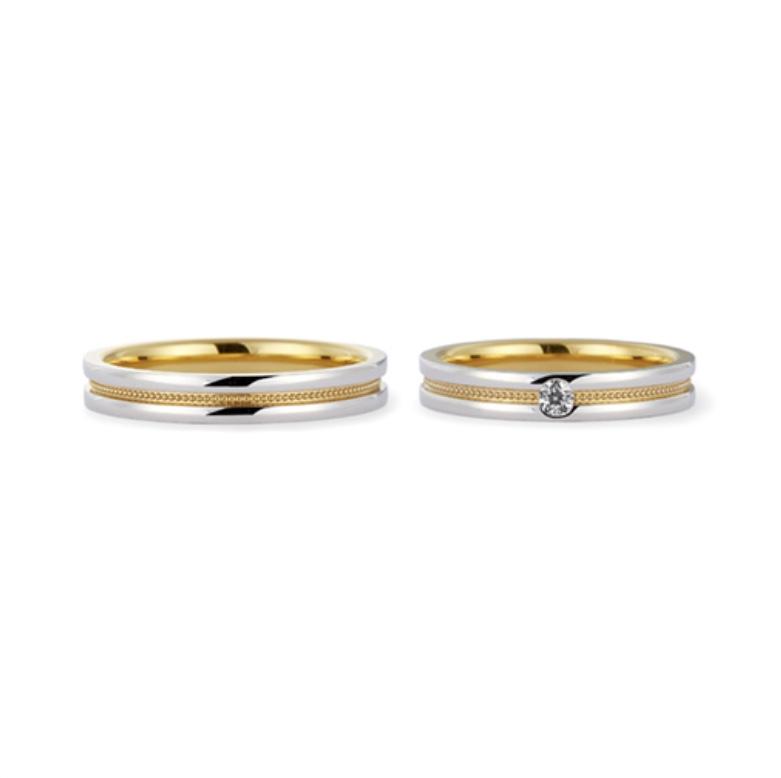 プラチナ999/24金結婚指輪