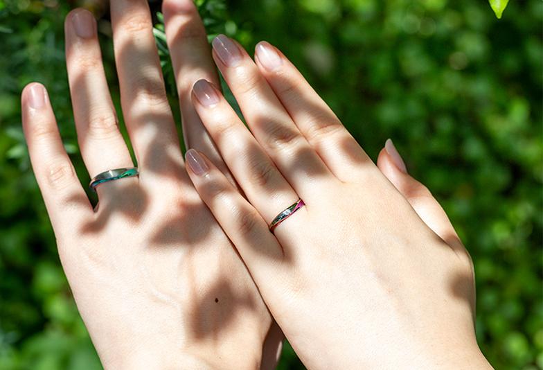 【富山市】カラフルな結婚指輪SORAの人気デザイントップ3