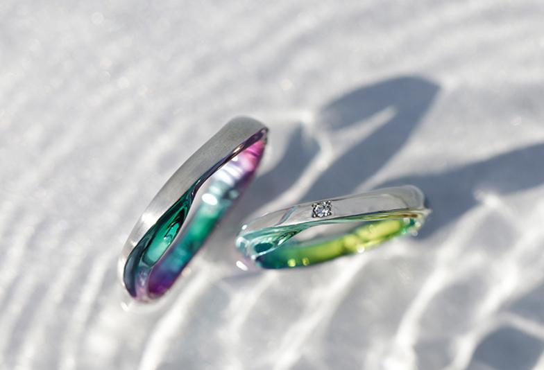 【富山市】おしゃれな結婚指輪SORAの「波」をモチーフにしたデザイン