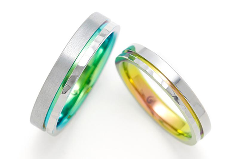 野々市市で見れるSORAの水平線をイメージした結婚指輪。