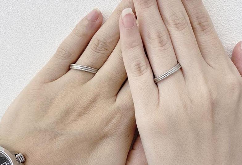 【金沢市】表面加工で選ぶ結婚指輪① ホーニング編