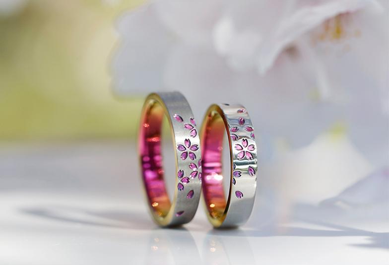 野々市市に初上陸のSORA!桜をモチーフの結婚指輪