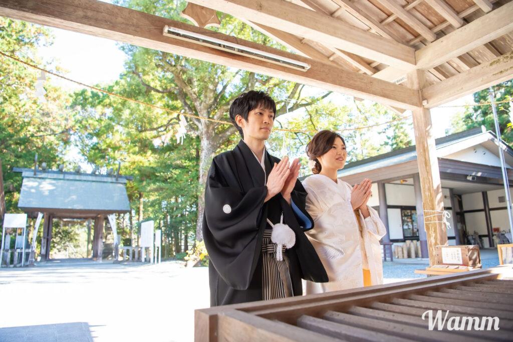 【静岡・浜松 前撮り】神社挙式&前撮りプランも格安で