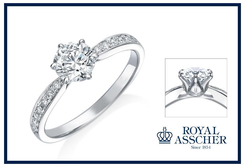 ロイヤルアッシャーの婚約指輪ERA815