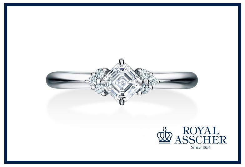 ロイヤルアッシャーの婚約指輪AC013