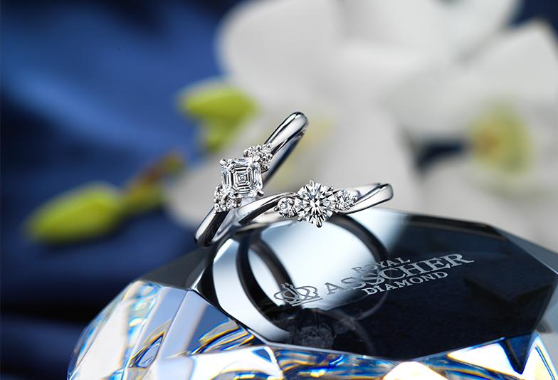 【福山市】大切な女性へ送る婚約指輪。白く瑞々しい輝きのROYALASSCHERがおすすめ