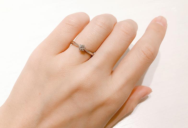 婚約指輪0.2~0.3ctのダイヤモンド