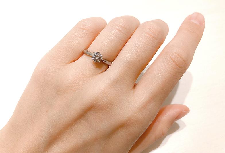 婚約指輪0.4~0.5ctのダイヤモンド