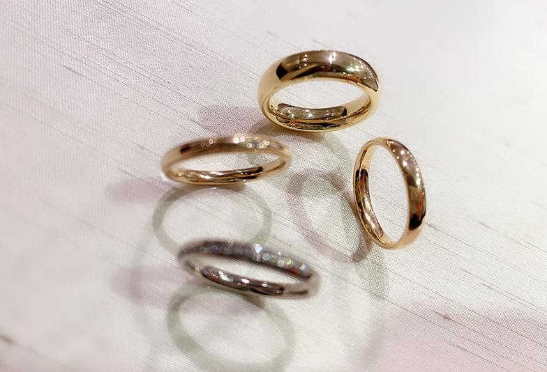 【静岡市】試着写真で徹底比較!ゴールドの結婚指輪のタイプ別印象は?