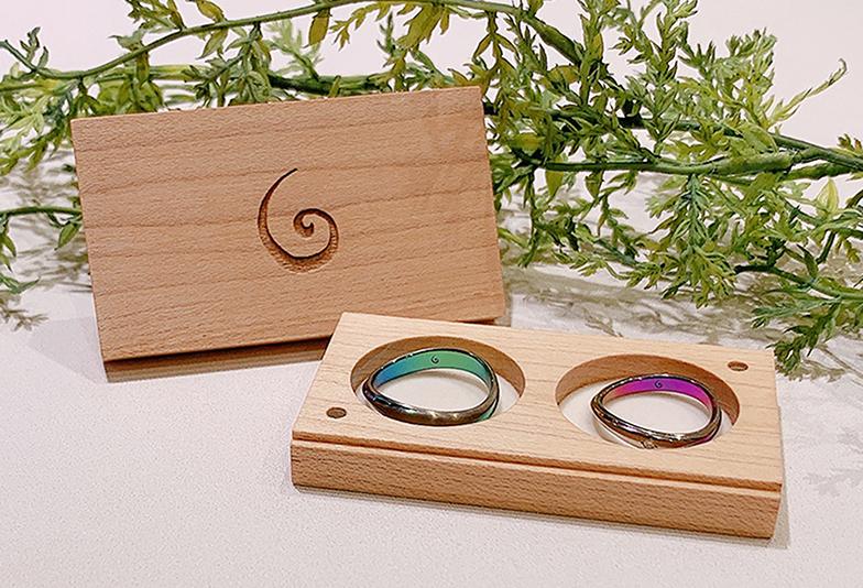 【浜松市】人気の結婚指輪「SORA」カラーが入った指輪の印象は実際どうなの?