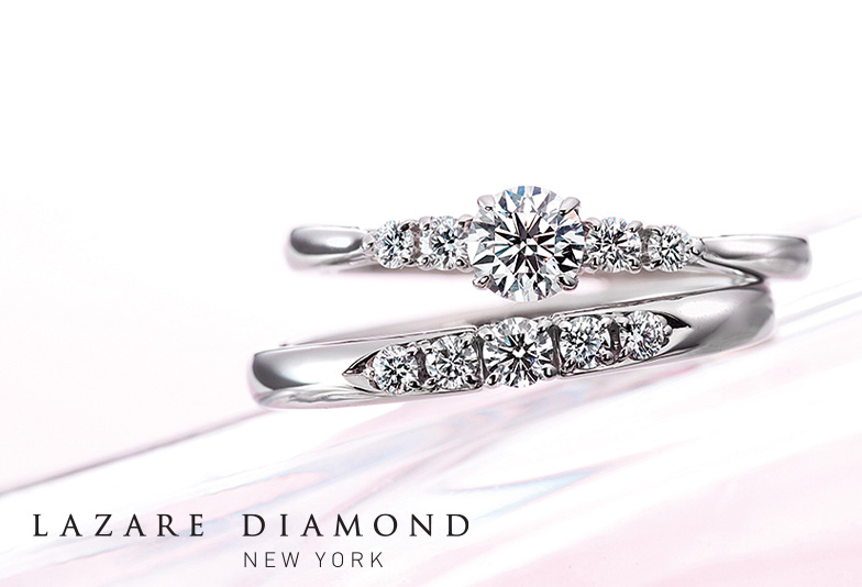 金沢市エルパラザールダイヤモンドの2020新作「ROSY」  金沢市結婚指輪