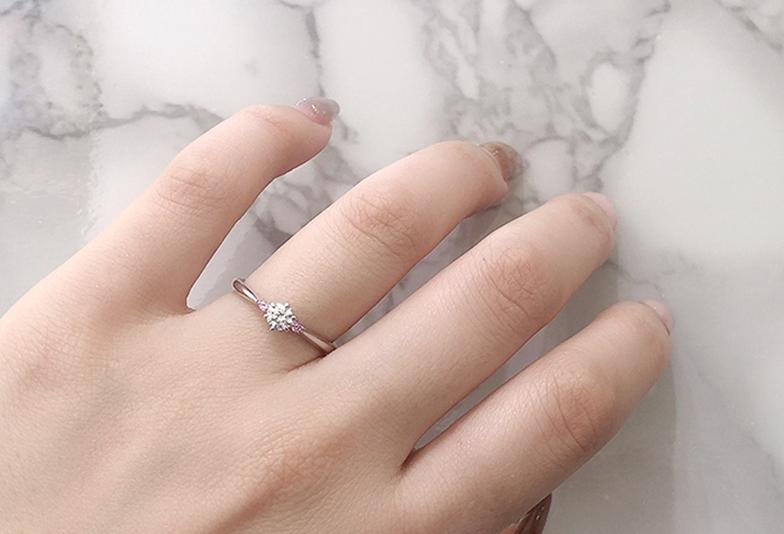 Milk&strawberry オーラ婚約指輪