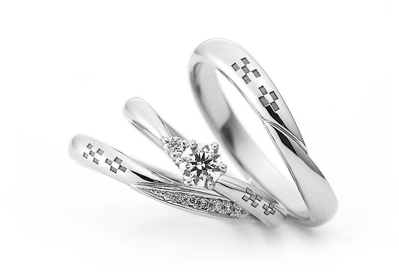 【那覇市】沖縄といえばミンサー柄!琉球杢目の結婚指輪をご紹介