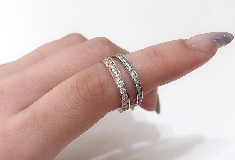 静岡市結婚指輪エタニティリング