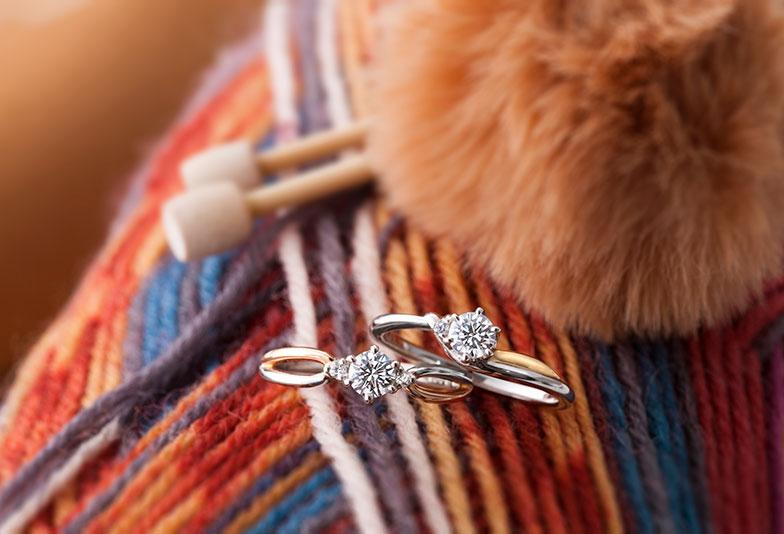 【山形市】華奢で可愛い!婚約指輪・結婚指輪はコンビリングの「Lettet mitte」が大人気
