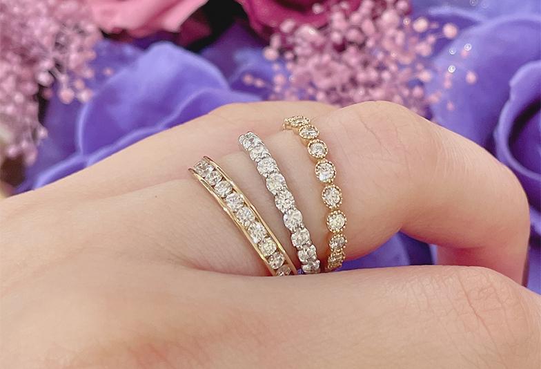 【静岡市】エタニティリングは結婚指輪に相応しい?デザインと種類をご紹介