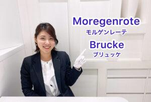 【動画】浜松市 Moregenrote(モルゲンレーテ)【Brucke】 ブリュッケ2人を繋ぐ架け橋を表現した結婚指輪