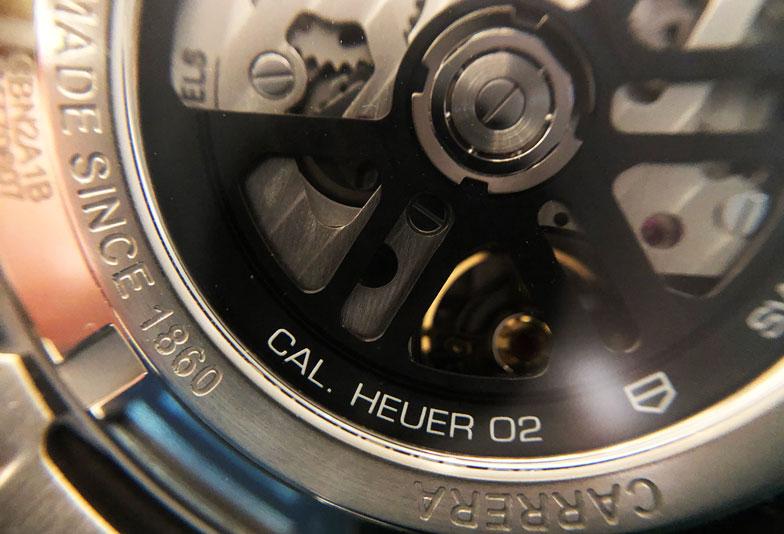 【静岡時計】TAGHeuerタグホイヤー 自社ムーブメント「Heuer02」とは?