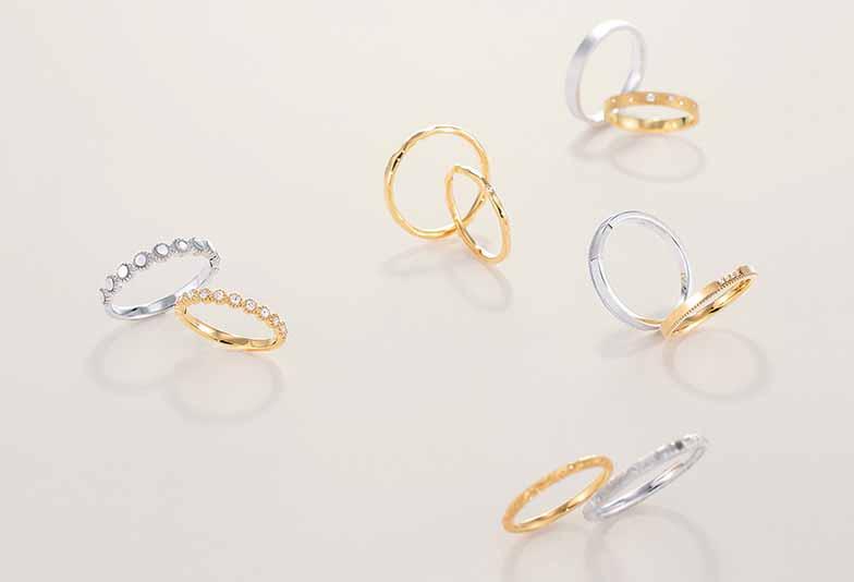 【浜松市】結婚指輪にゴールドはあり?6つの地金から選べる人気ブランド「トワエトワ」!