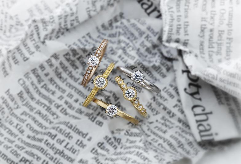 【静岡市】婚約指輪と結婚指輪を重ね着け!2021年人気組み合わせ3選