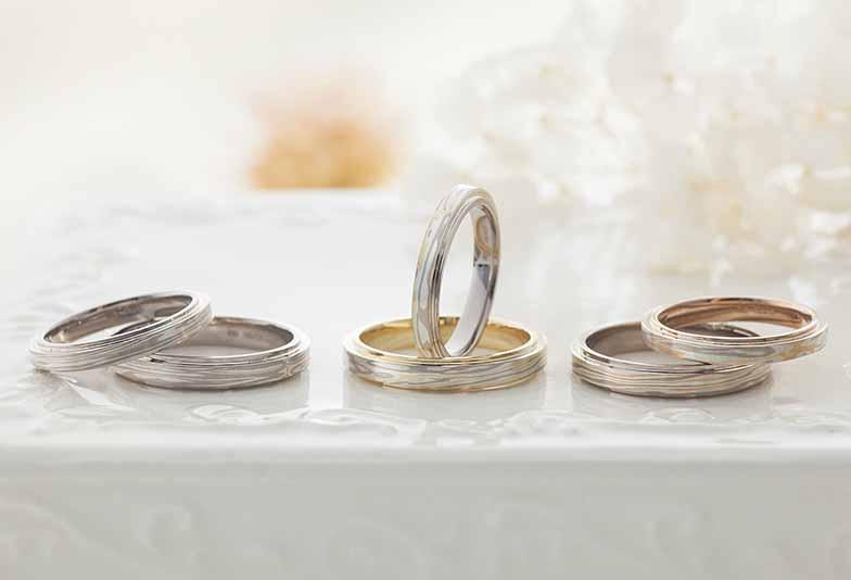 【浜松市】結婚指輪は人と被りたくない!オリジナリティ溢れる木目柄の結婚指輪