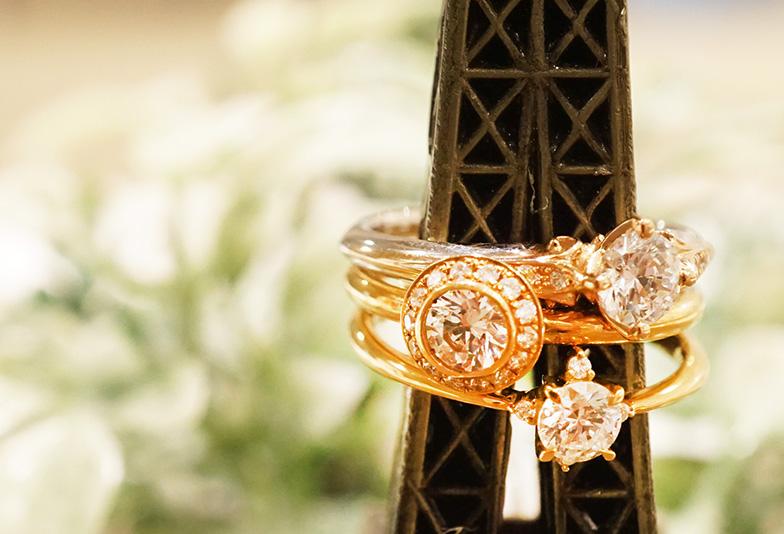 【浜松市】ゴールドの婚約指輪はヘン?おしゃれ上級者の花嫁に着けて欲しいデザインとは