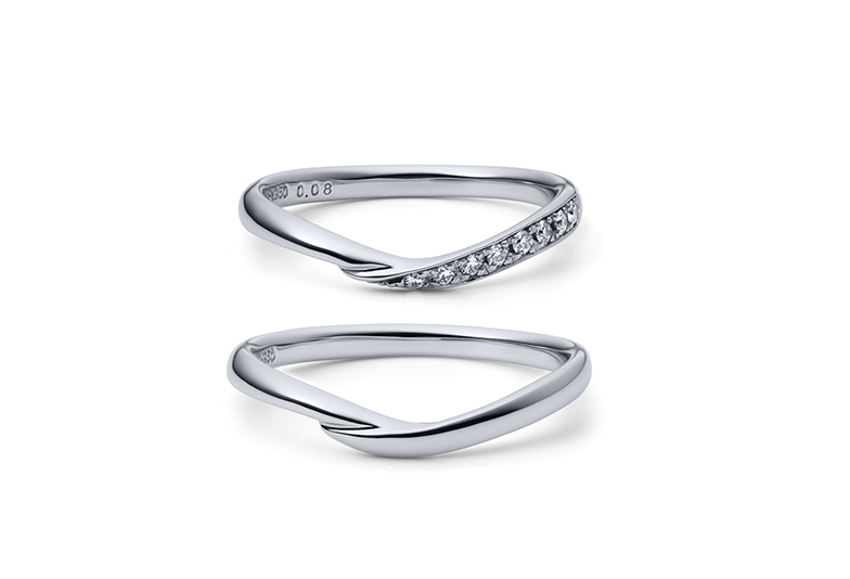浜松市結婚指輪Vライン