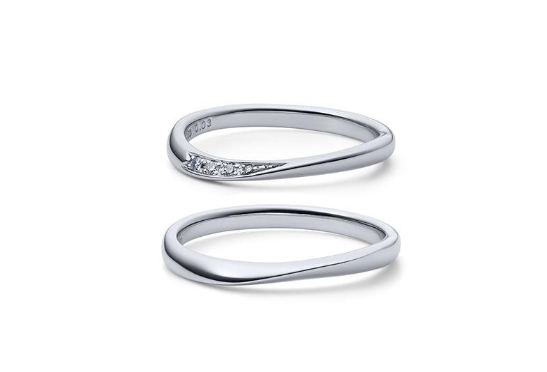 浜松市結婚指輪ウェーブライン