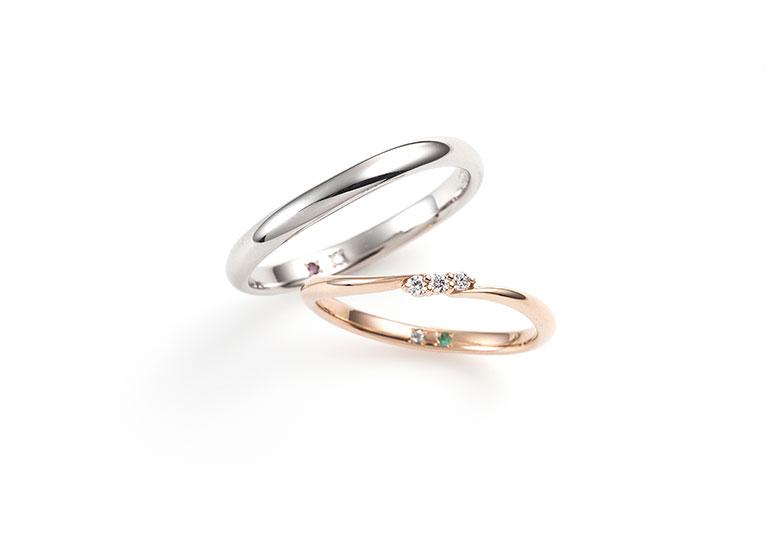 Coffret Couleur コフレクルール【婚約指輪&結婚指輪】