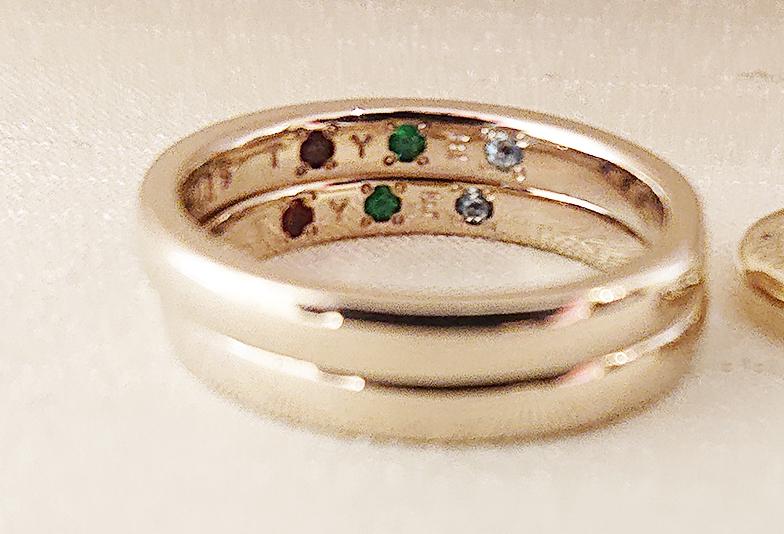 誕生石や結婚の月の石を留める