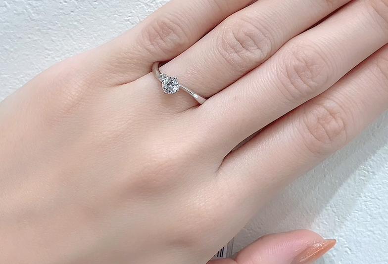 静岡市婚約指輪ウェーブ