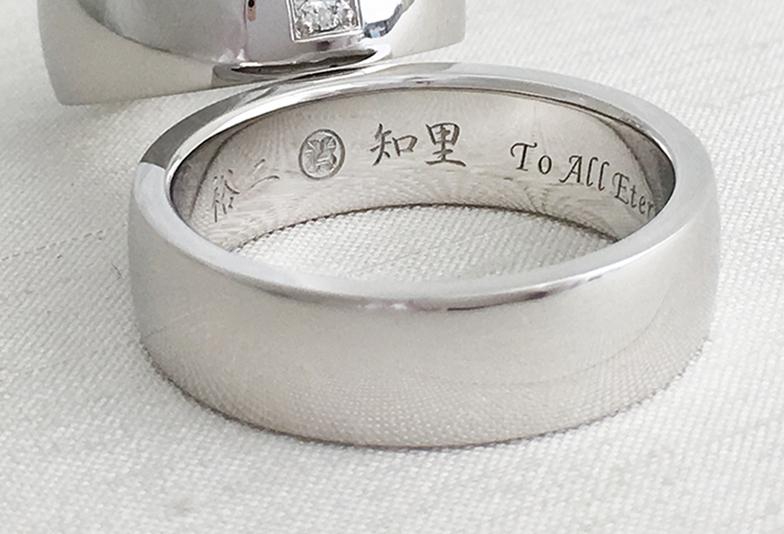 漢字や家紋も刻印できる結婚指輪