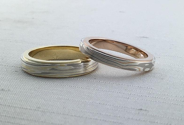 浜松市結婚指輪杢目リング