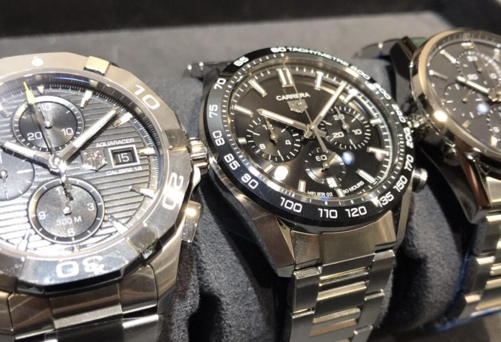 【静岡時計】高級腕時計のタグホイヤークロノグラフ から人気のブラックフェイスをご紹介