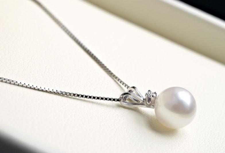 真珠/ダイヤモンドネックレス