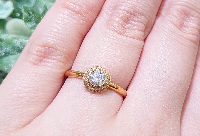 浜松市 イエローゴールドの婚約指輪