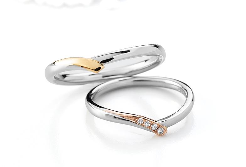 Brise Douceの結婚指輪 コンビネーション