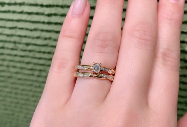 【京都市】ジューラ(オレッキオ)は高級感あふれるエメラルドカットダイヤモンドがおしゃれで人気