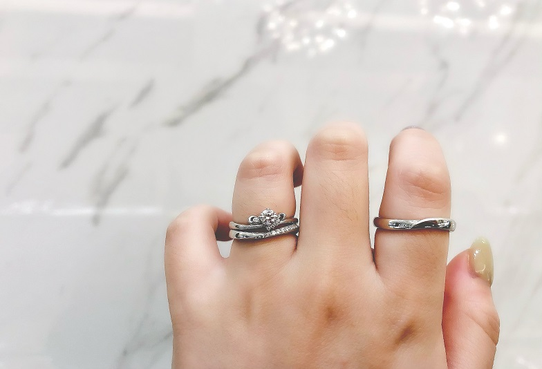 【京都市】高品質ダイヤを使用した王道シンプルな婚約指輪・結婚指輪『エトル』etlu